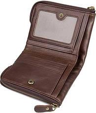 Портмоне мужской вместительный и практичный коричневый, фото 2