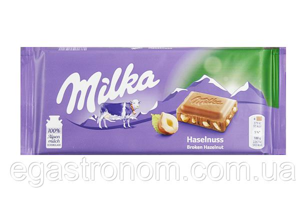 Шоколад Мілка лісовий горіх Milka haselnuss 100g 22шт/ящ (Код : 00-00005222)