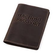 Обложка на паспорт Shvigel 13918 кожаная Коричневая, Коричневый