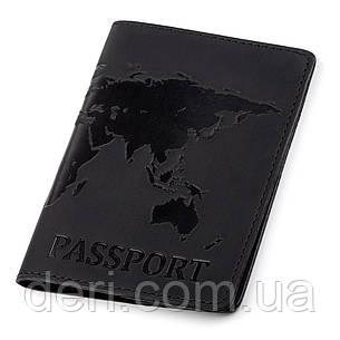 Обложка на паспорт Shvigel 13921 кожаная Черная, Черный, фото 2