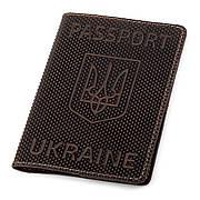 Обложка на паспорт Shvigel 13930 кожаная Коричневая, Коричневый