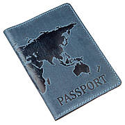 Обложка на паспорт Shvigel 13956 кожаная матовая Cиняя, Синий