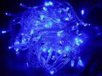 Гирлянда уличная Нить L160, нежное голубое свечение, незаметный в декоре провод