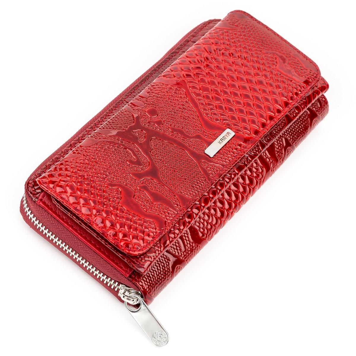 Кошелек женский KARYA 17177 кожаный Красный