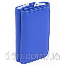 Оригинальный женский бумажник с монетницей голубой, фото 2