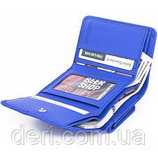 Оригинальный женский бумажник с монетницей голубой, фото 3