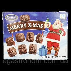 Шоколад Онлі Різдвяні фігурки Only 100g 22шт/ящ (Код : 00-00005056)