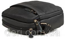Компактна Сумка Vintage 14634 шкіряна Чорна, Чорний, фото 2