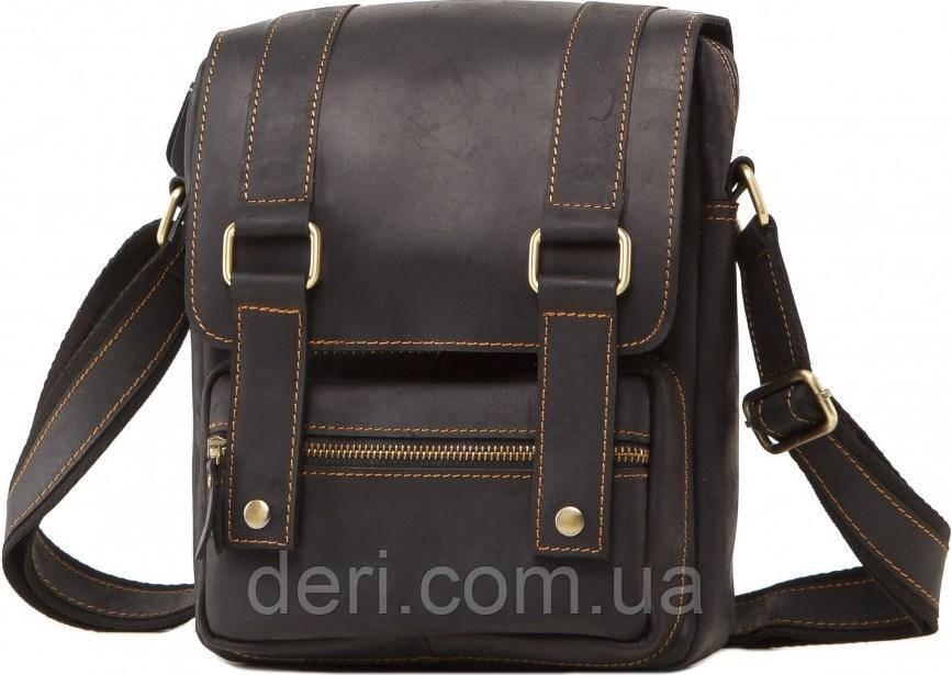 Сумка месенджер Vintage 14573 шкіряна Чорна, Чорний