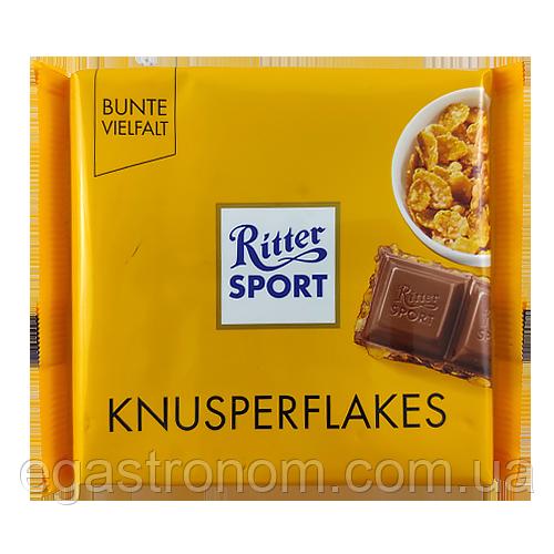 Шоколад Ріттер Спорт пластівці Ritter Sport knuspeflakes 100g 80шт/ящ (Код : 00-00003486)