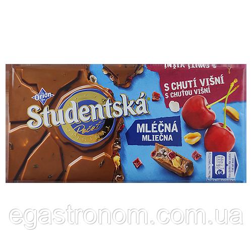 Шоколад Студентська з вишнею та арахісом Studentska 190g 16шт/ящ (Код : 00-00003753)