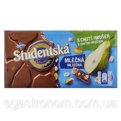 Шоколад Студентська з грушею і арахісом Studentska 190g 16шт/ящ (Код : 00-00003757)