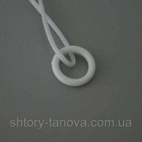 Кольцо для римских штор 0.9см белый