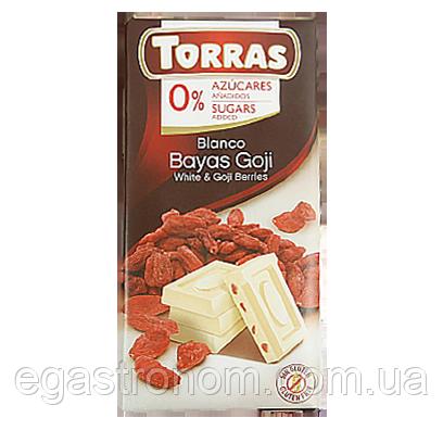 Шоколад Торрас білий шоколад ягоди годжі Torras blanco bayas goji 75g 10шт/ящ (Код : 00-00003965)