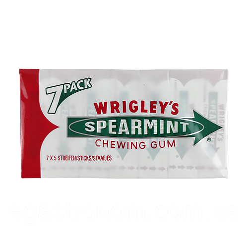 Жувальна гумка Врігліс wrigley's Spearmint Біла Пачка 7х5 14шт/ящ (Код : 00-00004342)