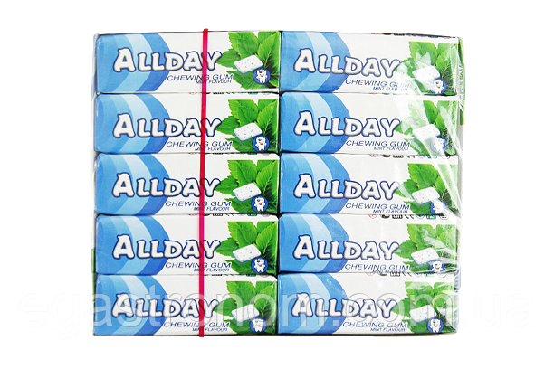 Жувальна гумка Олдей м`ята Allday mint 14g 30шт/пач 24пач/ящ (Код : 00-00005246)