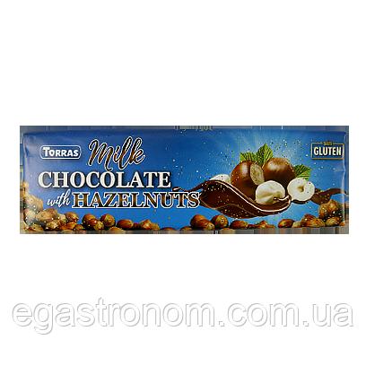 Шоколад Торрас молочний з фундуком Torras milk hazelnuts 300g 14шт/ящ (Код : 00-00005480)