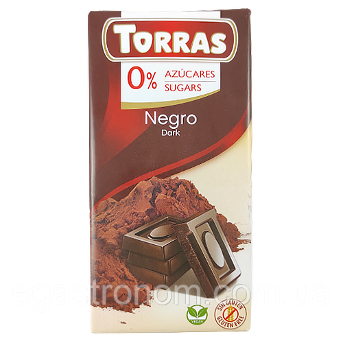 Шоколад Торрас чорн. шок. Torras negro dark 75g 12шт/ящ (Код : 00-00003996)