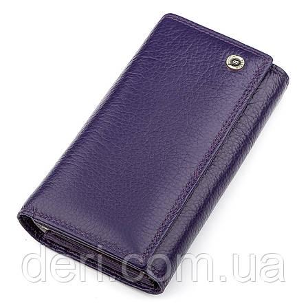 Гаманець фіолетовий жіночий дуже багато відділень, фото 2