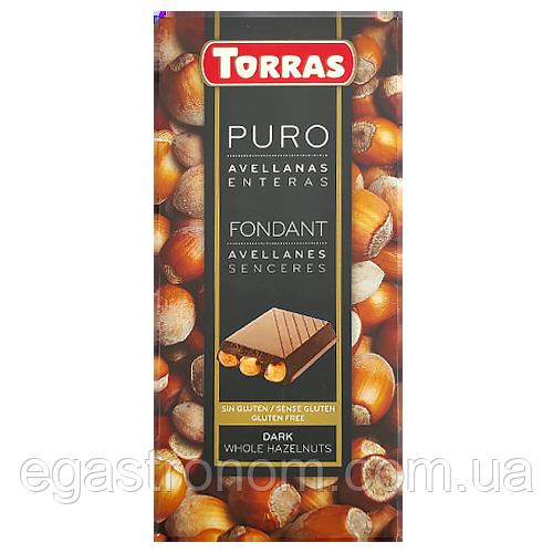 Шоколад Торрас чорний з фундуком Torras dark avellanas 200g 18шт/ящ (Код : 00-00004915)