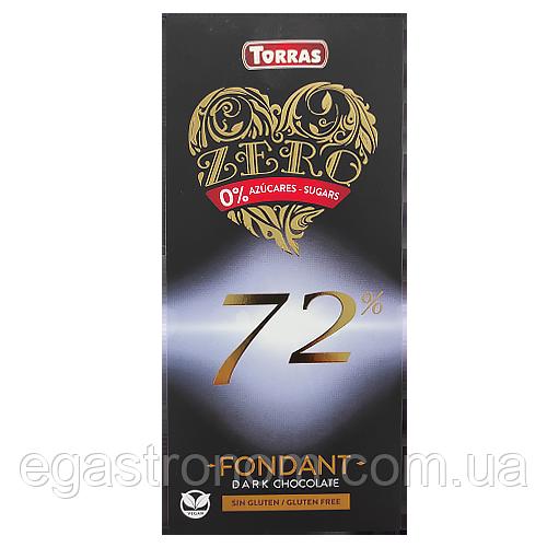 Шоколад чорний Торрас Zero 72% какао Torras 100g 12шт/ящ (Код : 00-00001567)