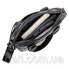 Сумка мужская SHVIGEL 11114 кожаная Черная, Черный, фото 3