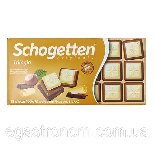 Шоколад Шогеттен 4804 Schogetten trilogia noisettes 100g 15шт/ящ (Код : 00-00003903)