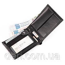 Портмоне зі шкіри CANPELLINI 17023 Чорне, Чорний, фото 3