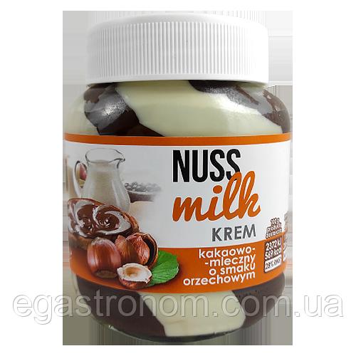 Шоколадна паста Нусс Мілк чорна і біла Nuss Milk 400g 12шт/ящ (Код : 00-00004228)