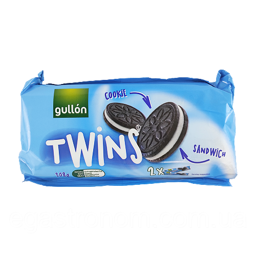 Печиво Твінс Twins Гуллон Gullon 308g 12шт/ящ (Код : 00-00000714)