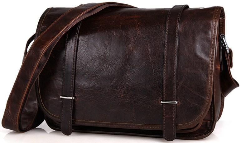 Сумка чоловіча Vintage 14476 Коричнева шкіряна