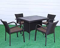 """Комплект """"КОМПОЗИТ 120"""" (композитная мебельная доска 16 мм.), Садовая мебель из искусственного ротанга,"""