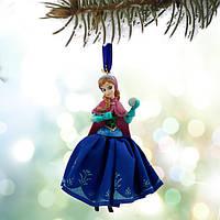 """Ёлочные игрушки Дисней Disney Store Frozen, принцесса Анна """"Холодное сердце"""" , фото 1"""