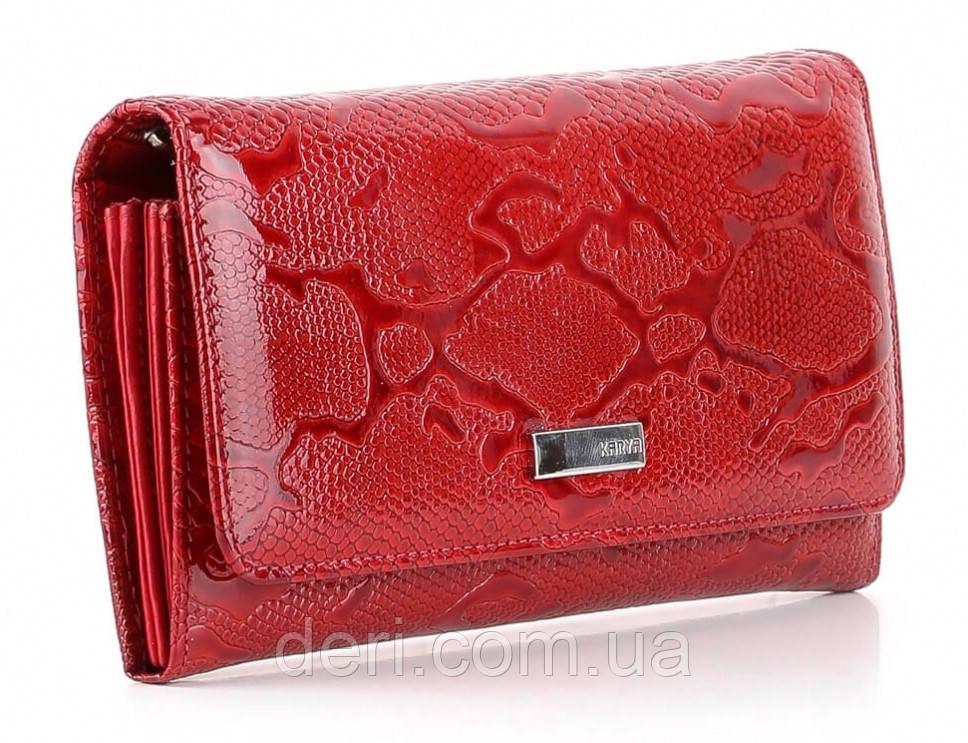 Кошелек женский KARYA 17152 кожаный Красный, Красный