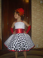 Детское нарядное платье Оксана, горох, ретро - прокат, Киев, троещина