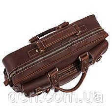 Сумка мужская Vintage 14075 кожаная Коричневая, Коричневый, фото 3