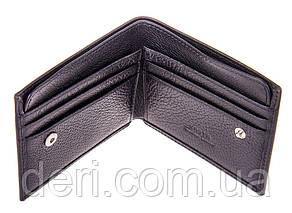 Надежное портмоне мужское кожаное черный, фото 3