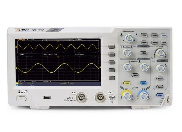 Цифровий осцилограф OWON SDS1022 (20 МГц, 2 канали)