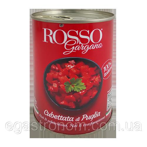 Помідори Горгано Россо кубиком Gorgano Rosso cubettata 400g 24шт/ящ (Код : 00-00004677)