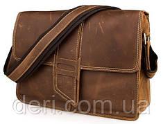 Сумка мужская Vintage 14231 в винтажном стиле Коричневая, Коричневый