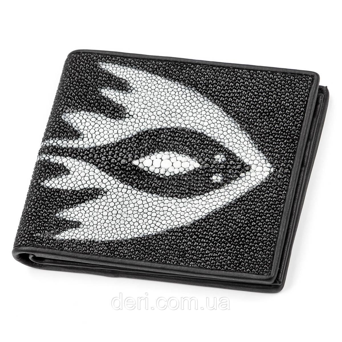 Бумажник мужской из натуральной кожи морского ската