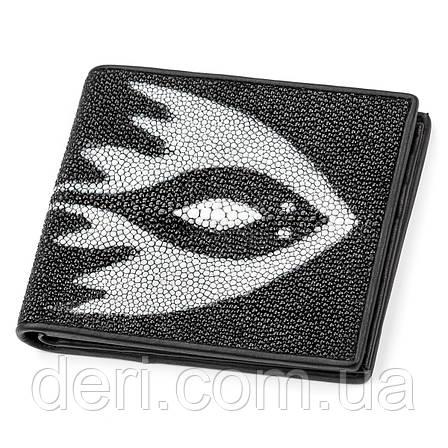Бумажник мужской из натуральной кожи морского ската, фото 2