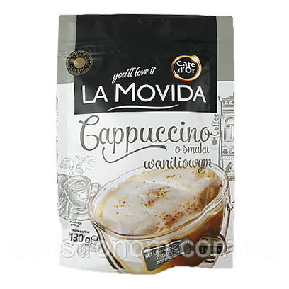 Капучіно Кофе Дор Ля Мовіда ванільне Cafe d`Or La Movida wanilowym 130g 30шт/ящ (Код : 00-00005604)