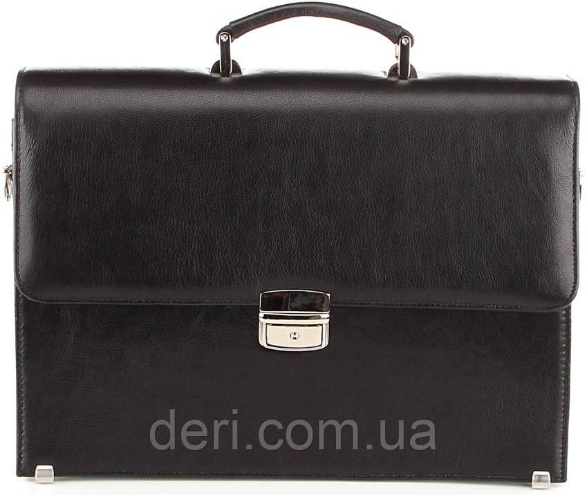 Портфель SHVIGEL 00365 з натуральної шкіри Чорний, Чорний