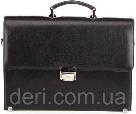 Портфель SHVIGEL 00365 з натуральної шкіри Чорний, Чорний, фото 2