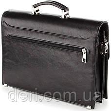 Портфель SHVIGEL 00365 з натуральної шкіри Чорний, Чорний, фото 3