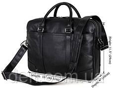 Сумка чоловіча Vintage 14421 Чорна, Чорний, фото 3