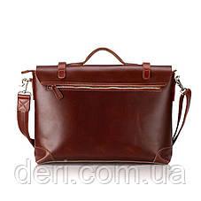 Портфель Vintage 14138 кожаный Коричневый, Коричневый, фото 3