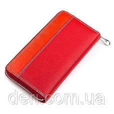 Кожаный женский кошелек красный, фото 2