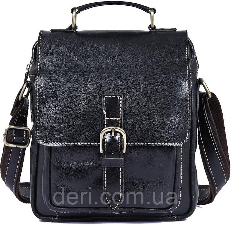 Сумка чоловіча Vintage 14458 Чорна, Чорний